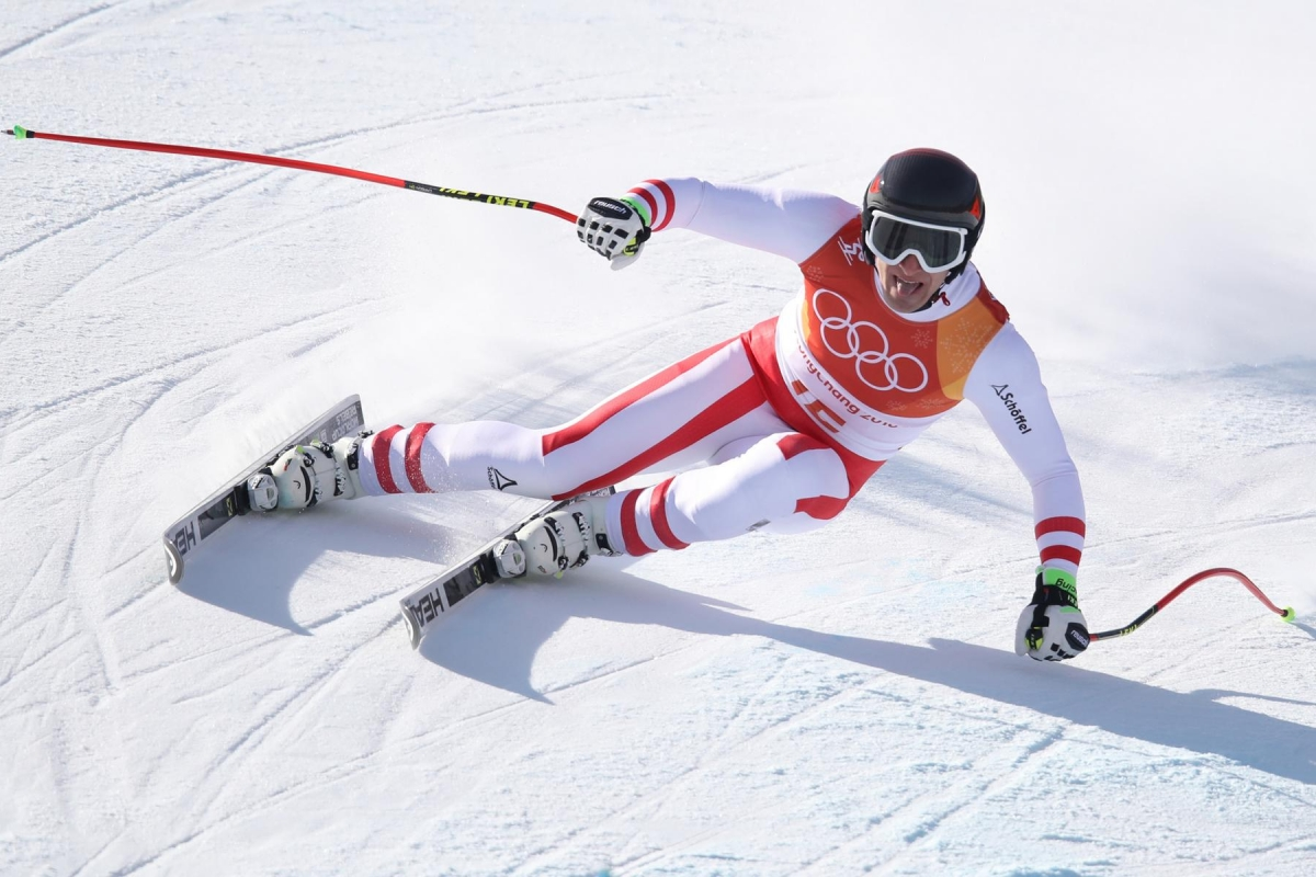 PYEONGCHANG,SOUTH KOREA,16.FEB.18 - OLYMPICS, ALPINE SKIING - Olympic Winter Games PyeongChang 2018, Super G, men. Image shows Matthias Mayer (AUT). Photo: GEPA pictures/ Andreas Pranter