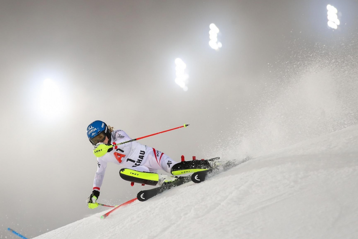 FLACHAU,AUSTRIA,09.JAN.18 - ALPINE SKIING - FIS World Cup, night slalom, ladies. Image shows Bernadette Schild (AUT). Photo: GEPA pictures/ Christian Walgram
