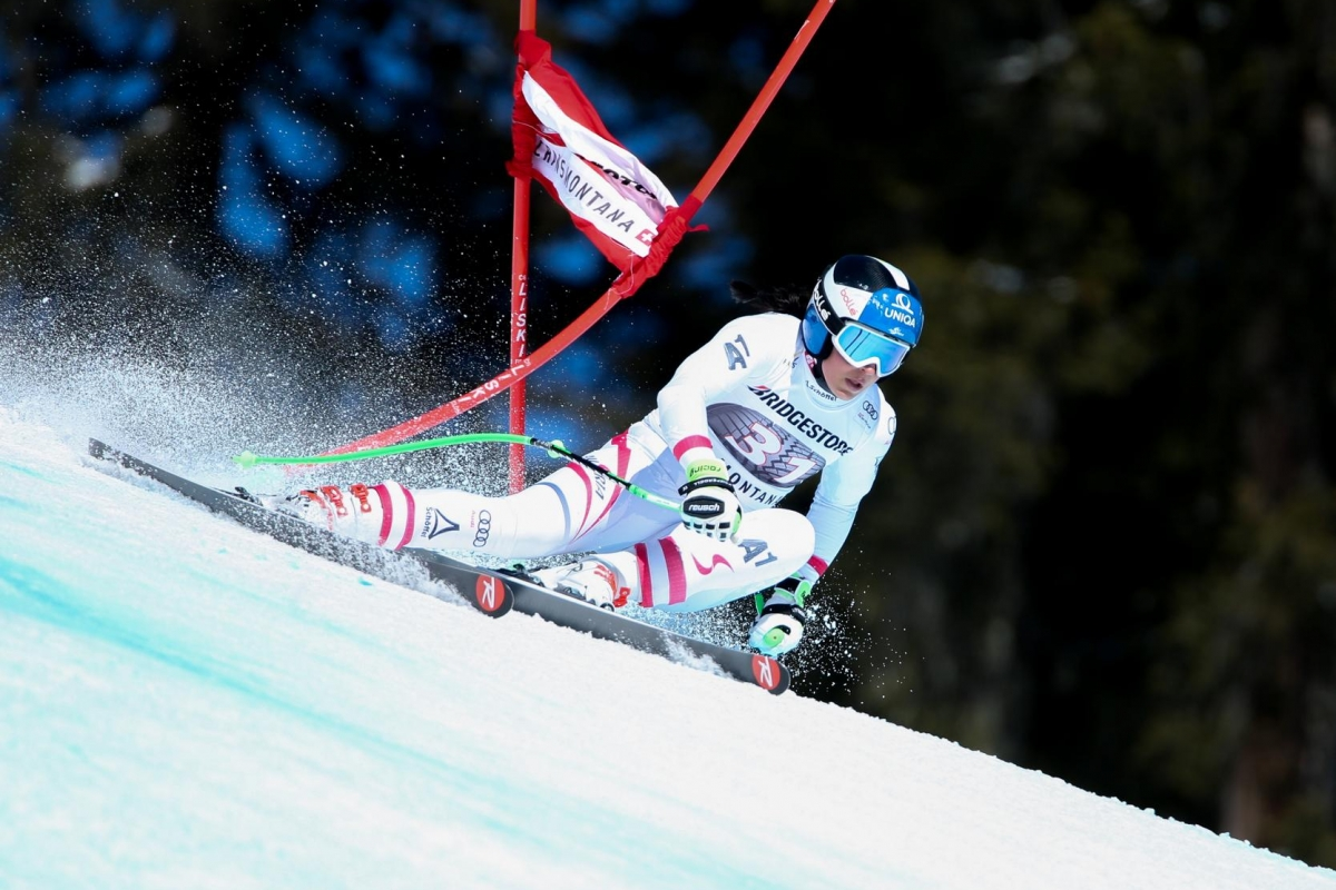 CRANS-MONTANA,SWITZERLAND,04.MAR.18 - ALPINE SKIING - FIS World Cup, Alpine Combined, ladies, Super G. Image shows Nadine Fest (AUT). Photo: GEPA pictures/ Mario Kneisl